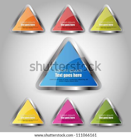 web element design - stock vector