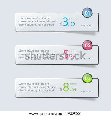 Web element, hosting - stock vector