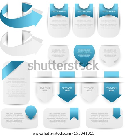 web element set - stock vector