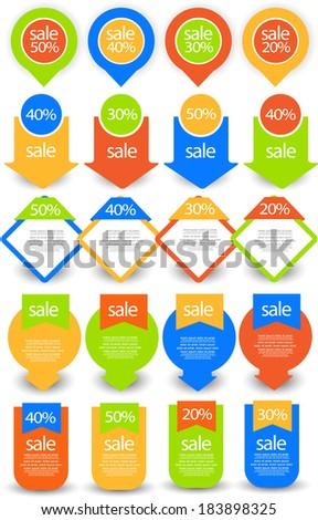 web element set - stock vector