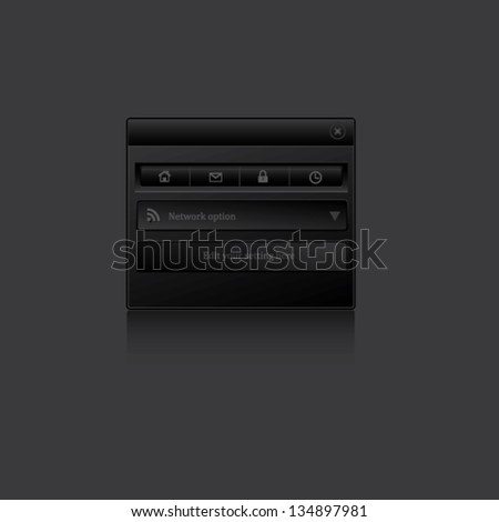 Web Elements. - stock vector