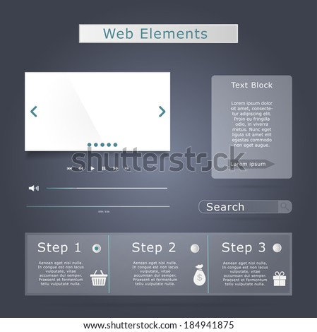 Web elements collection set - stock vector