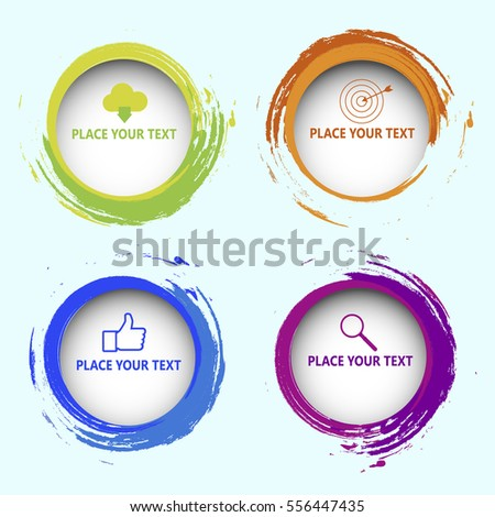 Web elements. 3d circular options for infographic. Vector Modern Creative and Business Template.