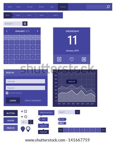Web elements. Flat design - stock vector