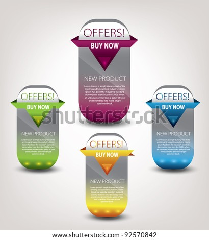 web elements for sale - stock vector