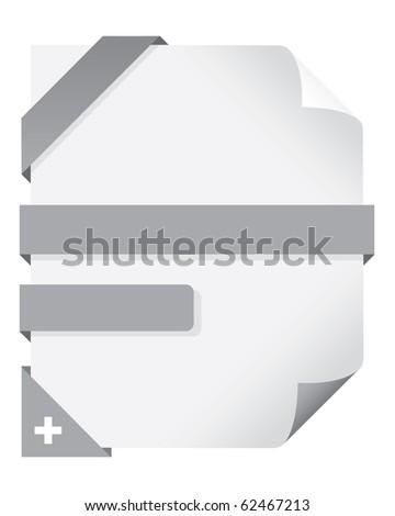 web elements set - stock vector