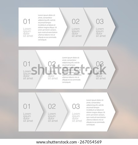 Web Elements Tab Paper. vector Banner Set. - stock vector
