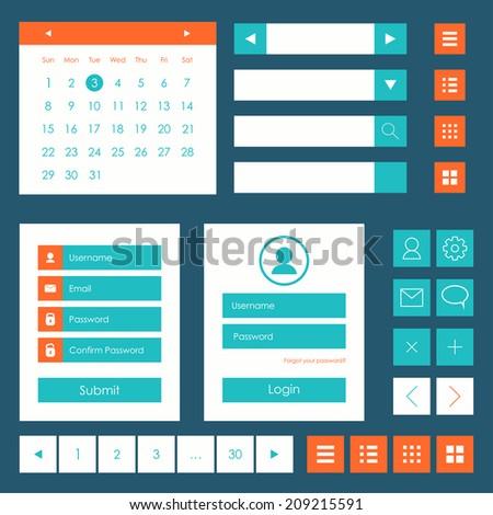 Web elements template. Flat design. Vector illustration - stock vector