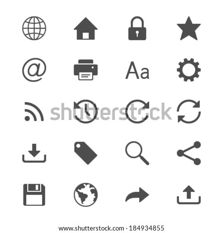 Web flat icons - stock vector
