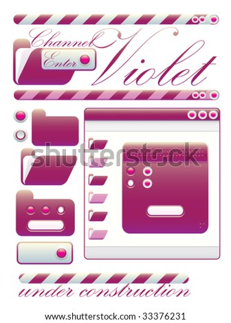 web graphic interface violet channel