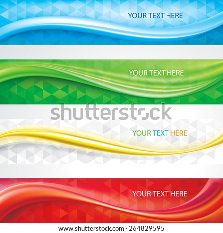 Web header banners abstract design  background. - stock vector