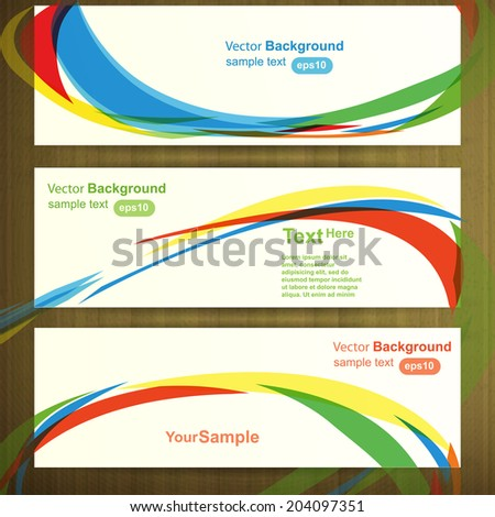 Web header template design, vector - stock vector