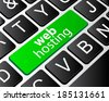 web hosting button concept, computer keyboard with word web hosting - stock vector