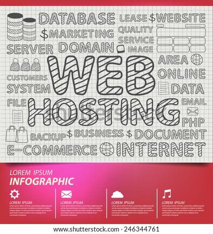 Web hosting vector illustration. - stock vector