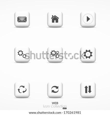 Web icon collection. Vector. - stock vector