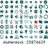 Web icon collection with 80 symbols - stock vector