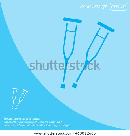 Web icon. Crutches