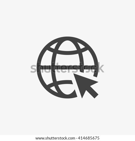 Web Icon in trendy flat style isolated on grey background. Website pictogram. Internet symbol for your web site design, logo, app, UI. Vector illustration, EPS10. - stock vector