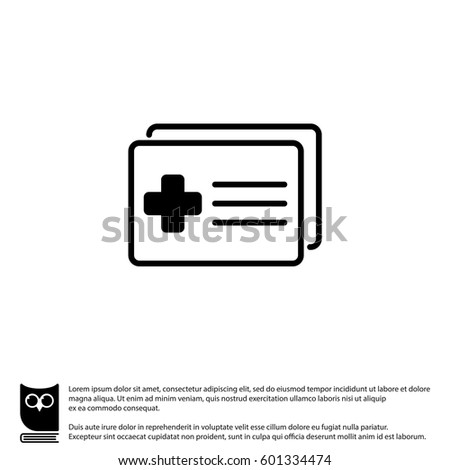 Web Icon Medical Forms Medical Certificate Stock Vector