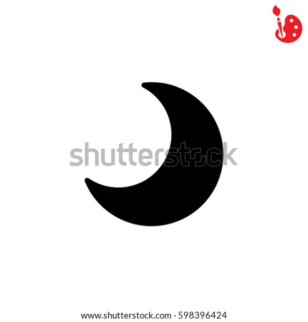 Web Icon Moon Crescent Stock Vector 2018 598396424 Shutterstock