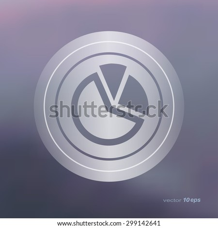 Web icon on the blurred background. Graph symbol. Vector illustration