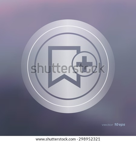 Web icon on the blurred background.  Like Symbol. Vector illustration - stock vector