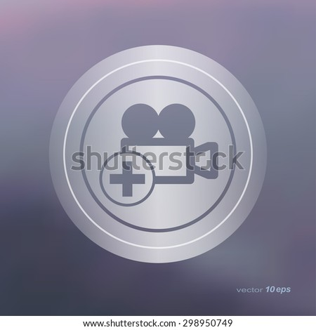 Web icon on the blurred background. Video Symbol.  Vector illustration - stock vector
