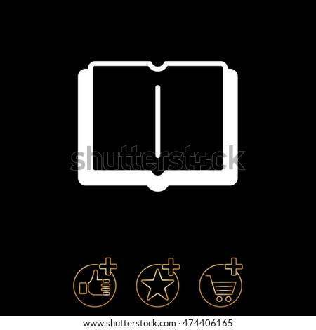 Web icon. Open book