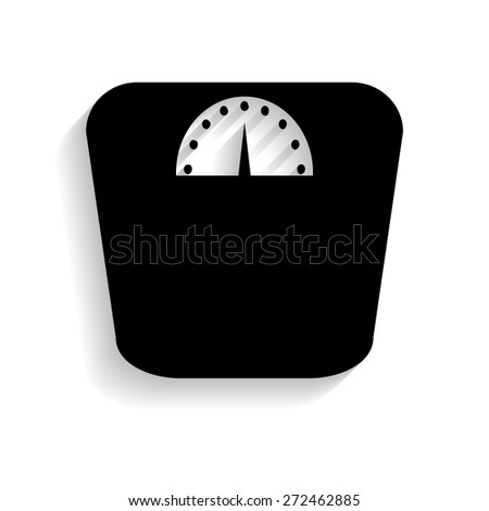 Web icon- scales, weighing, weight, balance with shadow