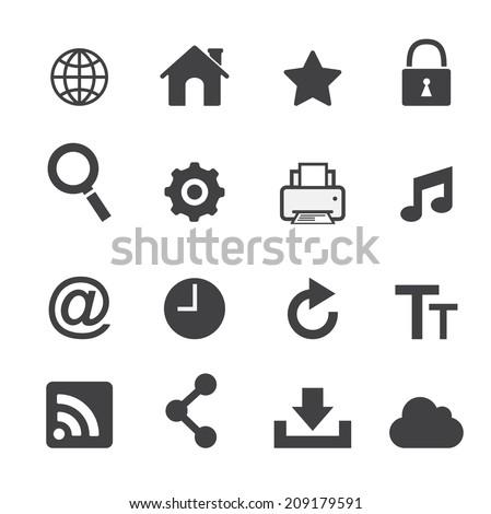 Web icon set - stock vector