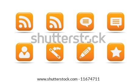 Web icon set 7 | Apricot series - stock vector