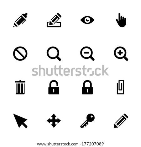 Web Icon Set isolated on the white background for mobile and desktop applications
