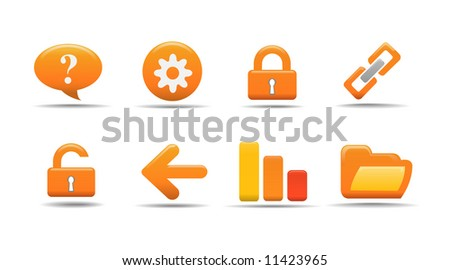 Web icon set 2 | Pumpkin series - stock vector