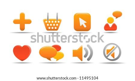 Web icon set 5 | Pumpkin series - stock vector
