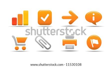 Web icon set 1 | Pumpkin series - stock vector