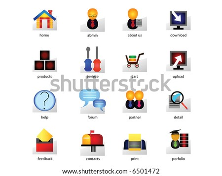 Web icon set suitable to use any kind of website. - stock vector