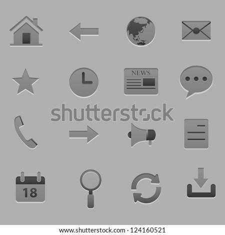 web icon set vector - stock vector