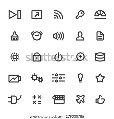 Web icons - stock vector