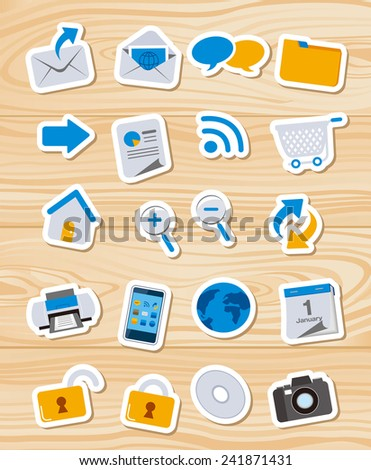 Web icons, Apps, set Vector  - stock vector