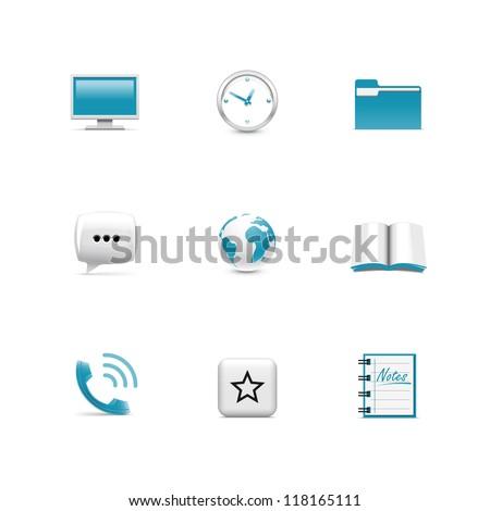 Web icons. Azzurro - stock vector