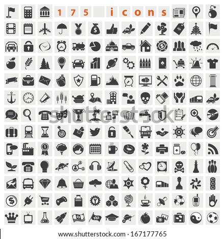 Web icons. Big set for you design - stock vector