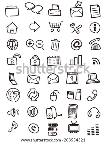 Web icons, buttons, note Vector  - stock vector