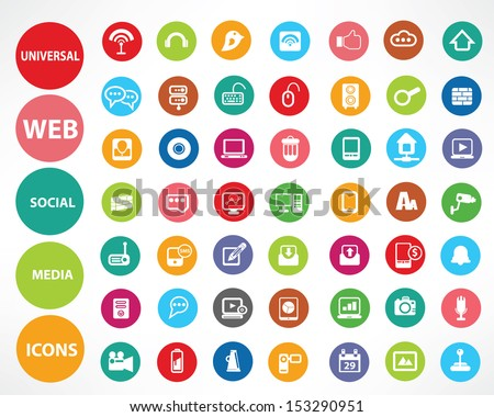 Web icons,Colorful version,vector - stock vector