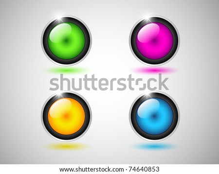 web icons, internet & website - stock vector