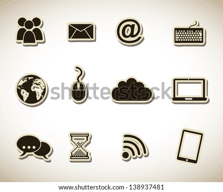 web icons over white background vector illustration - stock vector