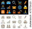 Web icons, pictograms - stock photo