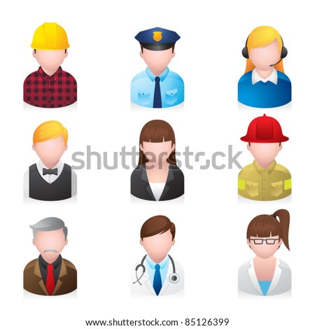 Web Icons - Professional People 2 - stock vector