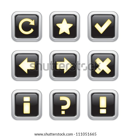 Web icons set - stock vector