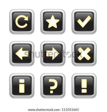 Web icons set - stock vector