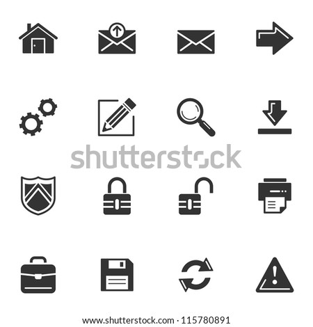 Web Icons - Set 1 - stock vector